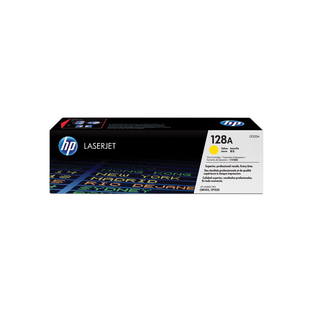 Deze HP 128A Toner Geel is een toner geschikt voor onderstaande HP printers. Geschikte printers HP Color Laserjet HP Color LaserJet CP1525 HP Color LaserJet CM1415