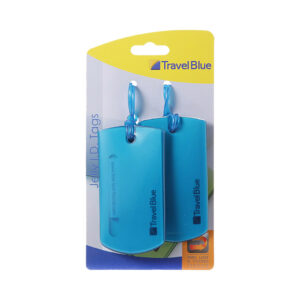 Travel Blue Jelly ID Tag Blauw