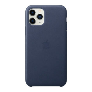 Apple iPhone 11 Pro Max Leather Back Cover Middernachtblauw
