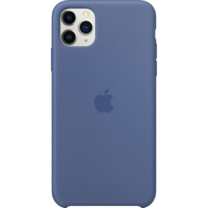 Apple iPhone 11 Pro Max Silicone Back Cover Linnenblauw
