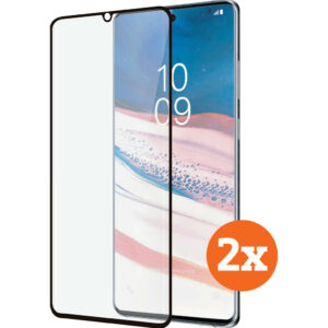 Azuri Curved Tempered Glass Samsung Galaxy Note 10 Lite Screenprotector Duo Pack