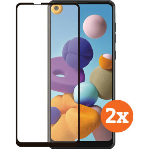 Azuri Curved Tempered Glass Samsung Galaxy A21s Screenprotector Duo Pack