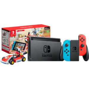 Nintendo Switch (2019 Upgrade) Rood/Blauw + Mario Kart Live: Home Circuit – Mario Set